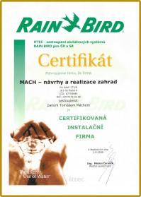 certifikat RainBird