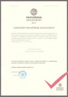 Certifikat Mach 2016